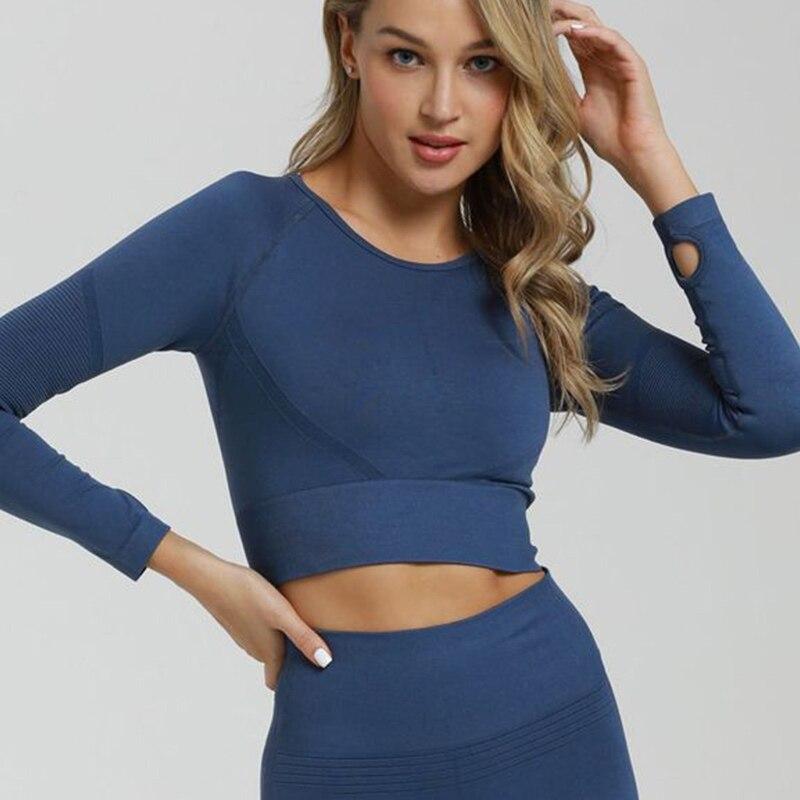 Топы с вырезом для большого пальца женская рубашка блузки бесшовный