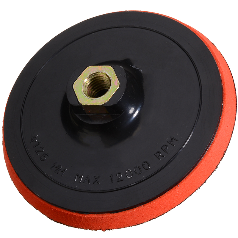 5 Inch 125mm M14 Sanding Pad Thread Adhesive Polishing Pad For Angle Grinder Polisher Tools Polishing Pad