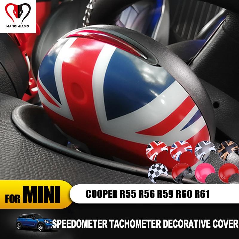 Union Jack Car Tachometer Cover Cap Sticker For mini cooper R55 R56 R60 R61 R58 R59 Countryman Clubman Interior Stickers Case