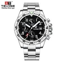 TEVISE Chronograph Automatic Man Watch Mechanical Waterproof