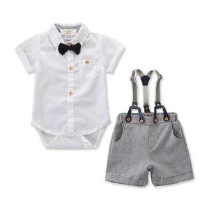 A/&J Design Baby Gentleman Junge 3PCS Hemd und Hose und Weste Formal Set