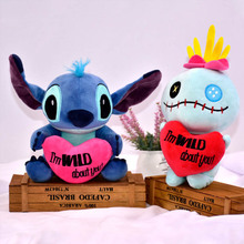 20cm Kawaii Stitch and lilo Anime figure Plush Doll Toy for girl friend iPillow Cute Birthday Valentines Day Kids Gift