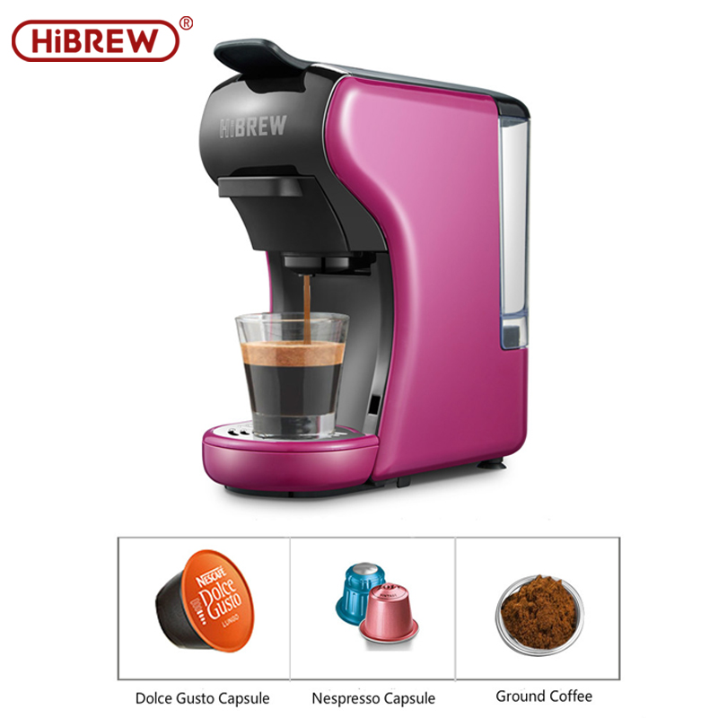 HiBREW Espresso Coffee Machine 3-In-1 Multi-Function;Coffee Maker,Espresso Maker,Dolce Gusto Capsule Coffee Machine,