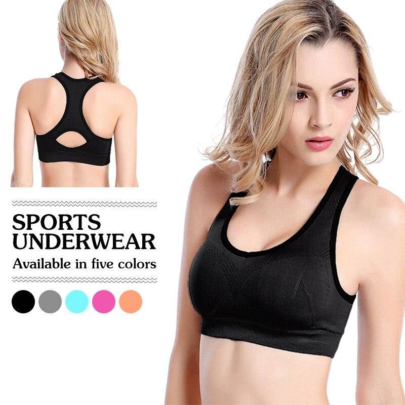 Padded-Vest Underwear Bandage Sport-Bra Seamless Fitness Shockproof Sexy Running Women