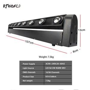 Image 2 - تتحرك مصباح إضاءة يثبت على الرأس بار 8X12W RGBW 4IN1 LED مع 10/38 DMX شعاع مصابيح دي جي أفضل ل Dj ديسكو حفلة عيد ميلاد الرقص الطابق الزفاف