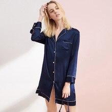 2020 Brand Pajamas Fashion Summer Real Silk WOMENS 100% Mulberry Shirt