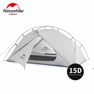 Image 1 - Naturehike VIK Series Tent 930g Camping Tent 15D Silicone Nylon Aluminum Pole Ultralight Tent Outdoor 1 person Tents NH18W001 K