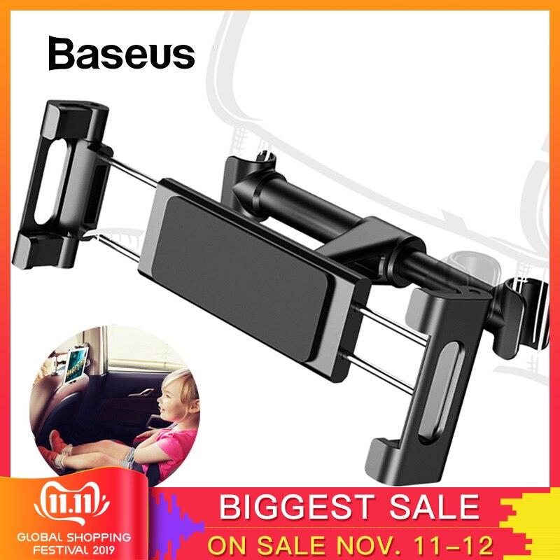 Baseus Car Back Seat Headrest Holder For 4-12.9 Inch IPad Car Phone Holder Backseat Mount For Pad Tablet PC Auto Headrest Holder