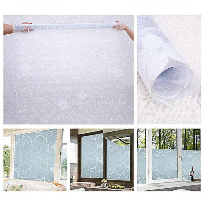 45x100cm PVC Film Waterproof Self Adhesive Window Privacy Film Sticker Frosted Glass Opaque Bedroom Bathroom Home Decor Film New
