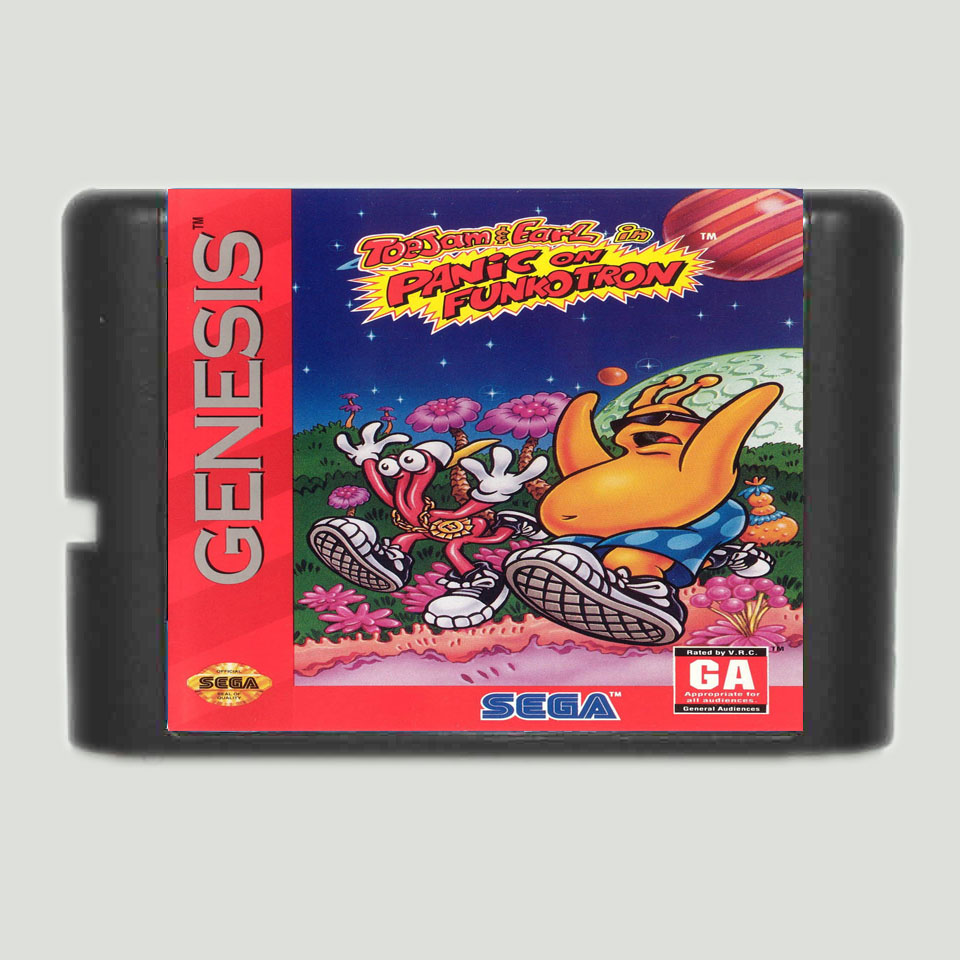 Game Jam & Earl In Panasonic on Funcotron NTSC USA 16 bit MD игровая карта для Sega Mega Drive Genesis|mega drive card|sega cardsega