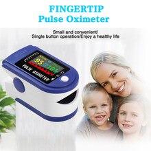 Médico portátil ponta do dedo oxímetro de pulso display oled monitor de freqüência cardíaca monitor de saturação de oxigênio no sangue com cordão monitor