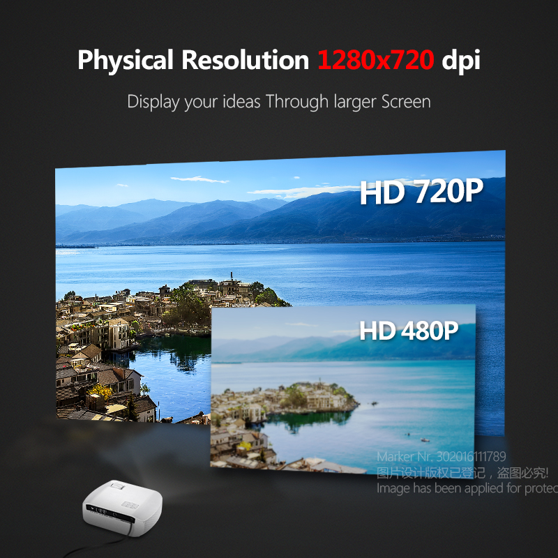 Image 2 - AUN MINI Projector F10UP, 1280*720P, Android 7.1 (2G+16G)  WIFI LED Proyector for 1080P 3D Home Cinema, New HDMI Video Beamer-in LCD Projectors from Consumer Electronics