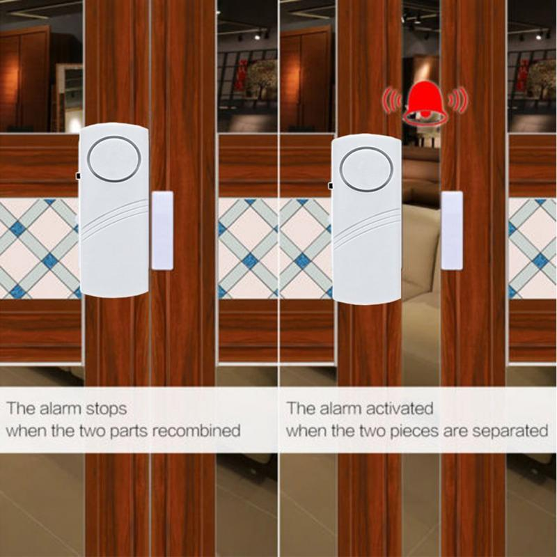 90dB Loud Wireless Magnetic Alarm Sensor Burglar Intruder Anti-Theft Door Window House Security Safety Alarm System