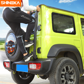 SHINEKA Protective Frames For Suzuki Jimny JB74 2019+ Car Exterior Rear Door Tailgate Ladder Accessories