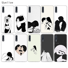 Uyellow Sketch Couple Silicone Case For Samsung A10 A20 A30 A40 A50 A60 A70 A80 A20E Cover Galaxy M10 M20 M30 M40 Soft Coque