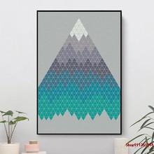 Muitas montanhas parede lona decoração para sala de estar, decoração para casa, filme cartaz, cuadros modernos