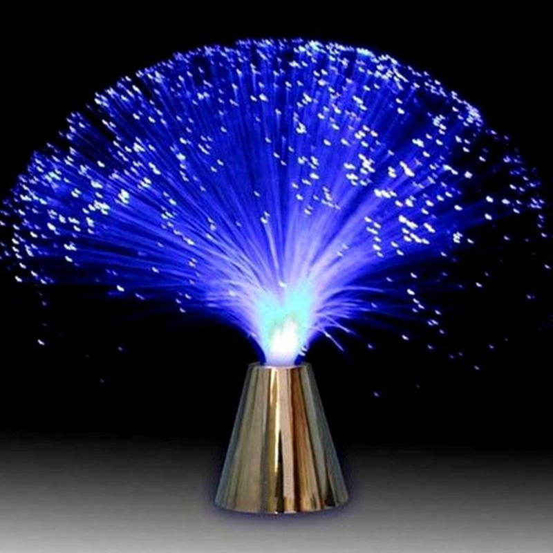 Multicolor ABS LED Fiber Optic Light Atmosphere Lamp Silver-plated Holiday Christmas Wedding Home Decoration Gift