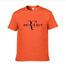 2021 męska modny Top letnia koszulka RF roger federer 100% bawełna męska koszulka wysokiej jakości koszulka z krótkim rękawkiem
