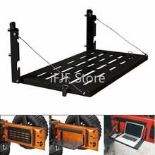 Tailgate Table for Jeep Wrangler 2007-2018 JK JKU Black Aluminum Alloy Foldable Multifunction Shelf Support Up to 75lb