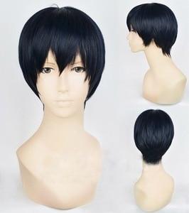 Image 2 - Haikyuu!! כדי העליון קוספליי Tobio Kageyama פאה קצר ארגמני כחול שחור אנימה פאה Hinata Shouyou כדורעף כוכב קרנבל פאה