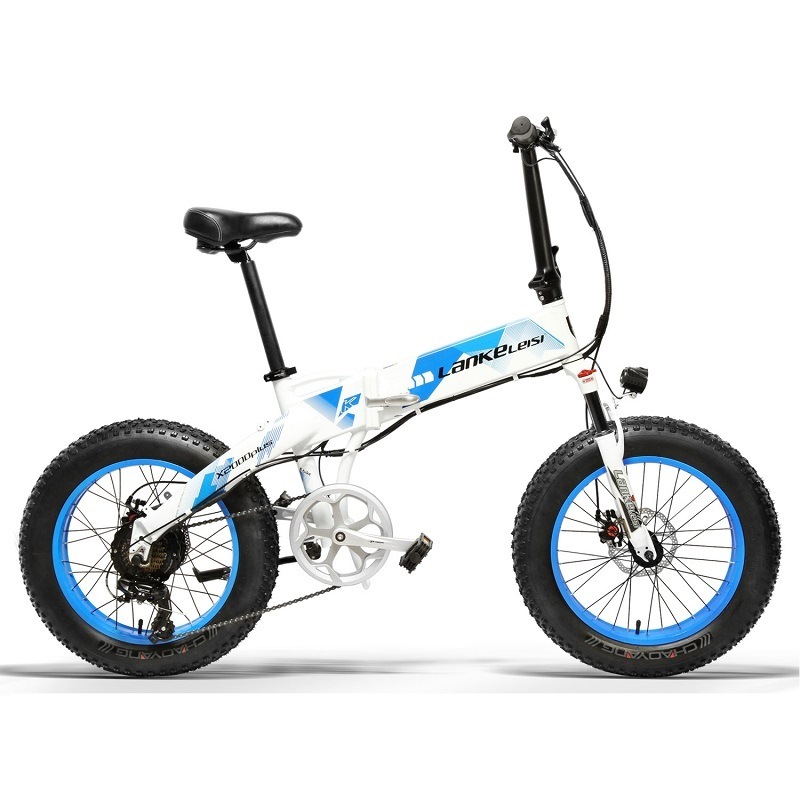 Electric LANKELEISI   X2000Plus foldable 20 inch Bicycle 400W Motor 13AH L G Lithium Battery for professional rider 4