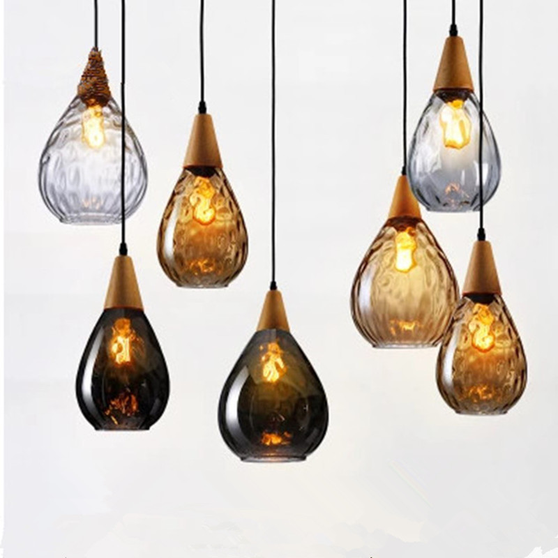 Glass Water Droplets Modern Pendant Light LED Kitchen Accessory Bedside Hanging Lamps Bedroom Living Room  Fixture  Undefined