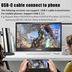 Портативный монитор 15,6 usb type c hdmi сенсорный ЖК hd ips экран для ноутбука, телефона, xbox, переключатель, ps4 портативный игровой дисплей