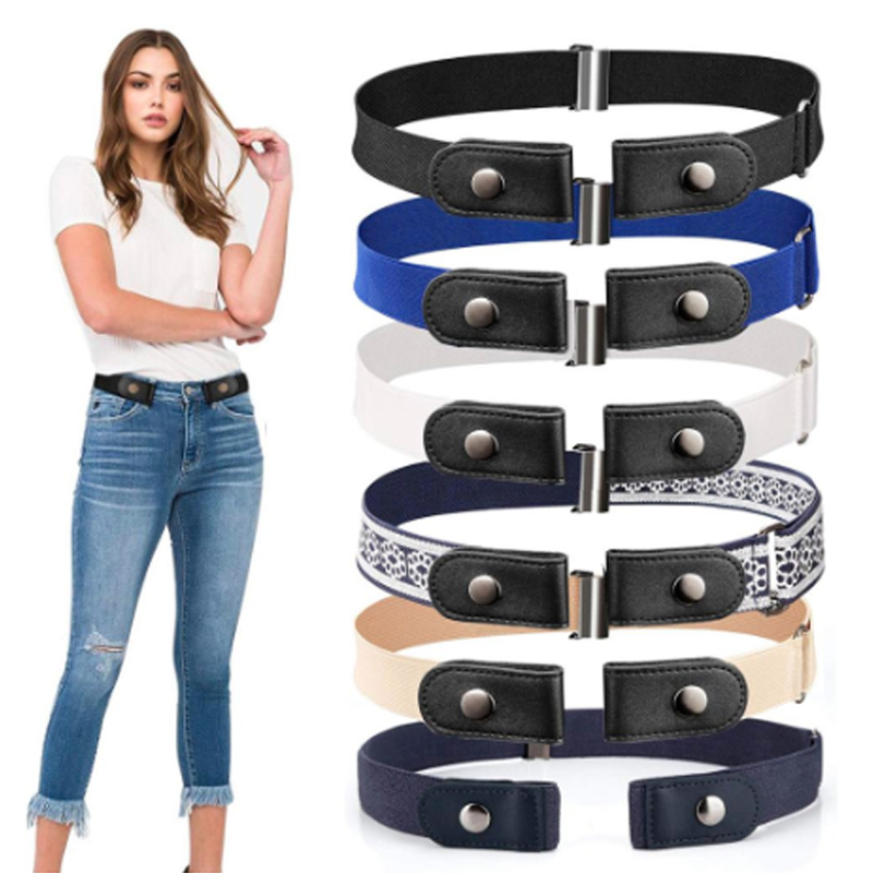2020 Easy Belt For Jeans Elastic Belts For Women Men Buckle Free No Buckle Stretch Waist Belt No Bulge No Hassle Ceinture Femme