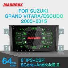 Marubox 1 din android 9.0 4gb ram para suzuki grande vitara escudo 2005 2012 gps navi estéreo rádio carro multimídia player 8a905px5