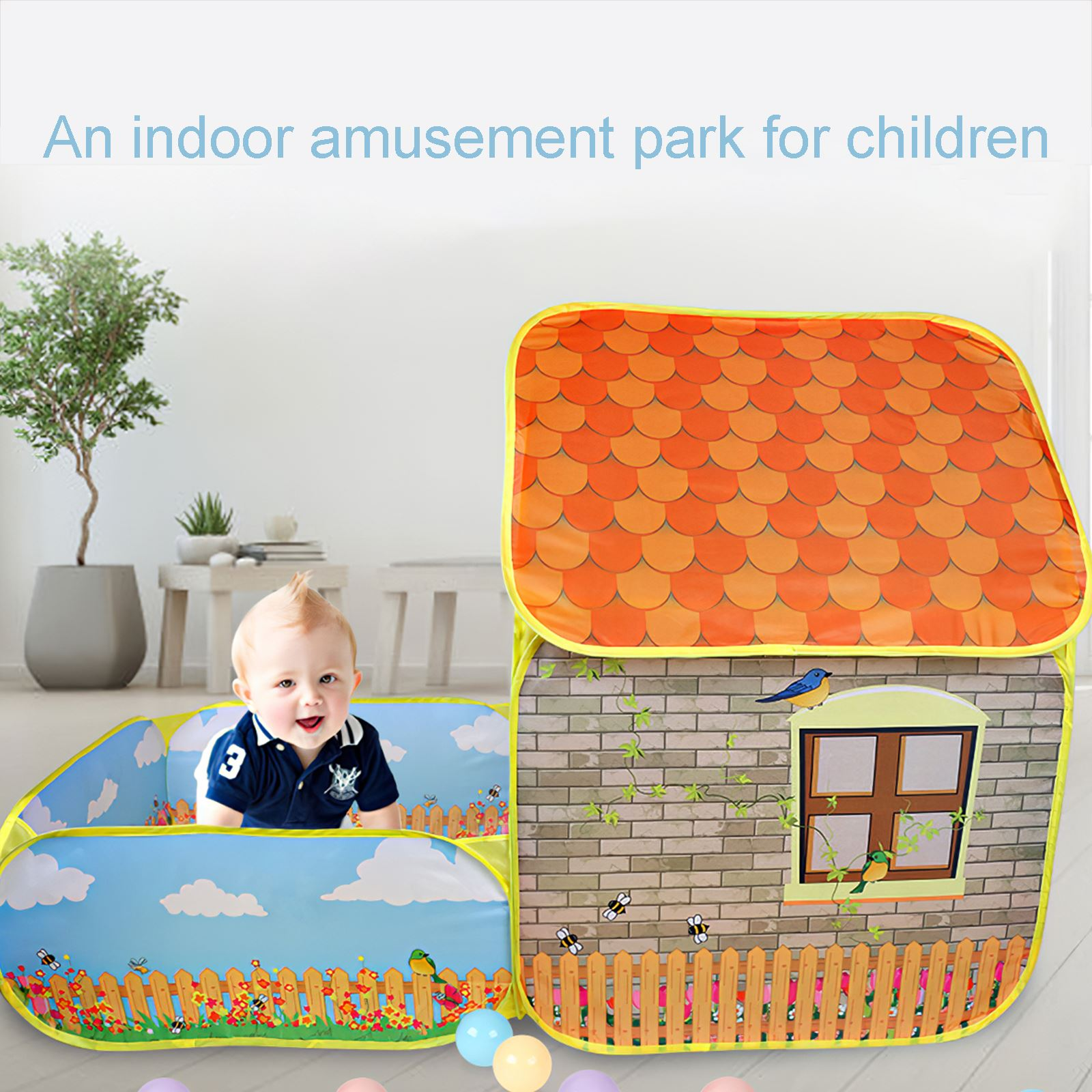 Portable Children Tent Wigwam Kids Folding Game Play Tents Baby Playpen Children Ball Pit Ball Pool Outdoor Kid Toys Gift