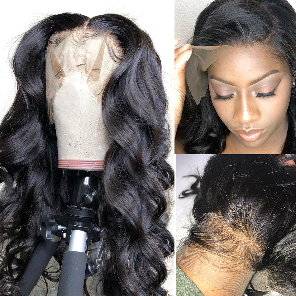 Lace Wigs Human-Hair-Wigs BEAUDIVA Body-Wave Glueless Pre-Plucked Natural-Color Brazilian