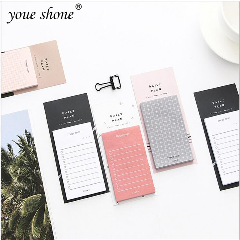 1pcs=50 Plan To-do List Weekly Monthly Memo Notepad Portable Notebook Can Be Torn And Sticky Simple Small Fresh