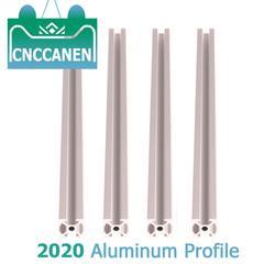 4pcs/lot 2020 Aluminum Profile 100mm to 850mm Length Extrusion European Standard Anodized Linear Rail for DIY CNC 3D Printer