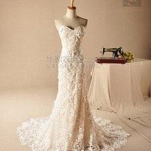 casamento romantic new sexy pearls robe de mariage sweetheart vestido de novia lace 2018 bridal gown