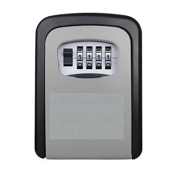 Nueva caja de seguridad para llaves de aleación de aluminio montada en la pared caja de seguridad resistente a la intemperie combinación de 4 dígitos caja de seguridad para llaves interior Outdoo