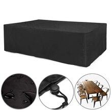 24 tamaños Oxford paño muebles cubierta a prueba de polvo para mesa de ratán cubo silla sofá impermeable lluvia jardín Patio cubierta protectora