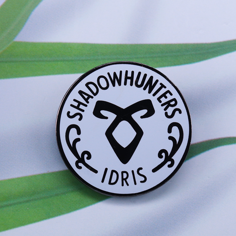 Shadowhunters membership pin The Mortal Instruments, The Dark Artifices, The Infernal Devices by Cassandra Clare brooch