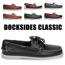 Men Genuine Leather Driving Shoes,Docksides Classic Boat
