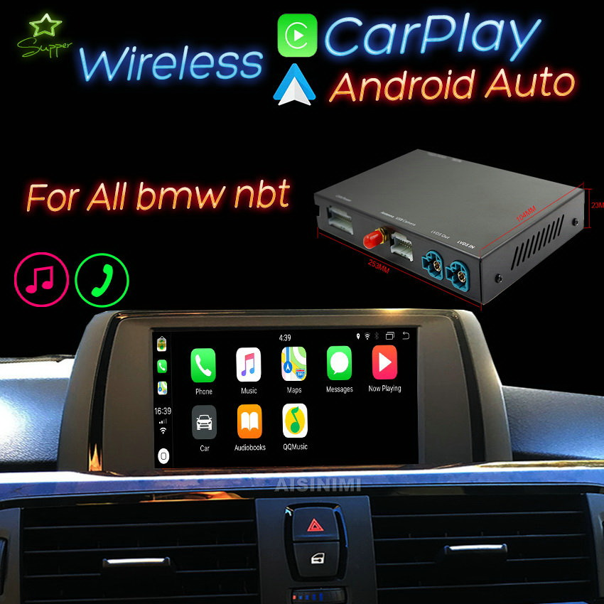 Original car screen Wireless Apple Carplay Android Auto Module For BMW NBT F10 F30 F20 F22 F23 F32 F01 F07 F48 F25 F26 F15(China)