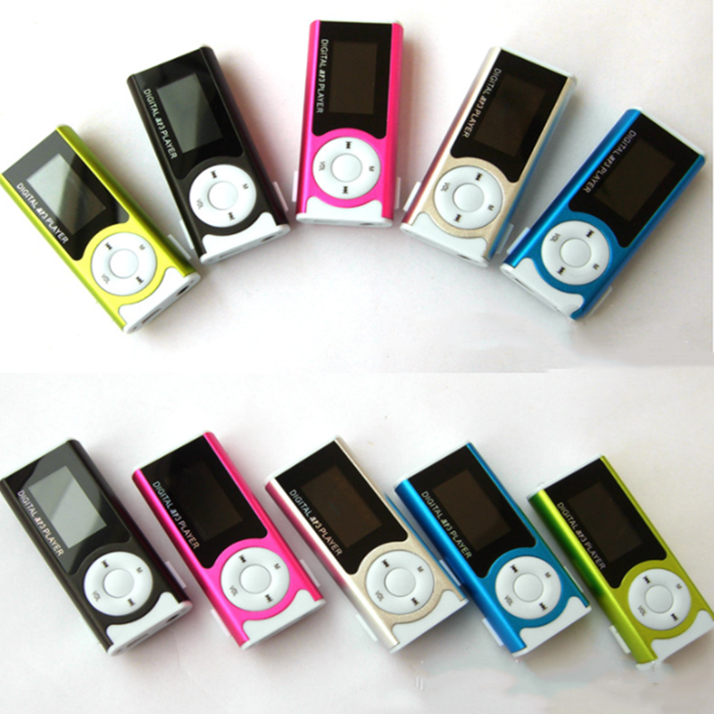 New Mini USB Clip LCD Screen MP3 Player Media Player Support 16GB Externa Micro SD title=