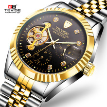 2019 Top Brand Men Watches TEVISE Stainless Steel Sport Waterproof Man Watch Automatic Mechanical Wristwatch Relogio Masculino цена