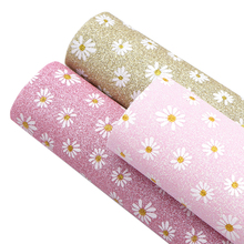 Earrings Fabric-Sheet Upholstery Clothing Fine Hair-Bows Glitter Flower-Printed DIY 1yc11696
