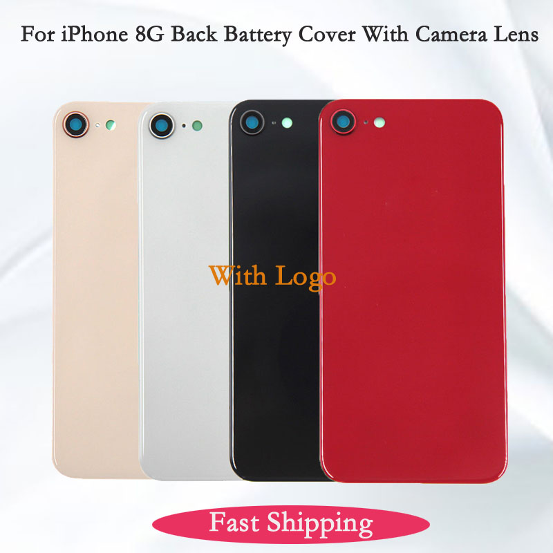 Back Battery Cover For IPhone 8G With Camera Lens 4.7 Inches Rear Battery Rear Door Housing Glass High Quality Replacement