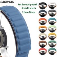 20Mm 22Mm Magnetische Riem Voor Samsung Galaxy 46Mm 42Mm Watch3 45Mmgear S3 Actieve 2 Horloge siliconen Band Voor Huawei Amazfit Gtr