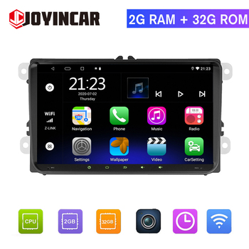Android 9.1 2 Din Car Multimedia Player GPS Autoradio For VW/Volkswagen/Golf/Polo/Tiguan/Passat/Skoda HD 9 Car Radio Stereo image