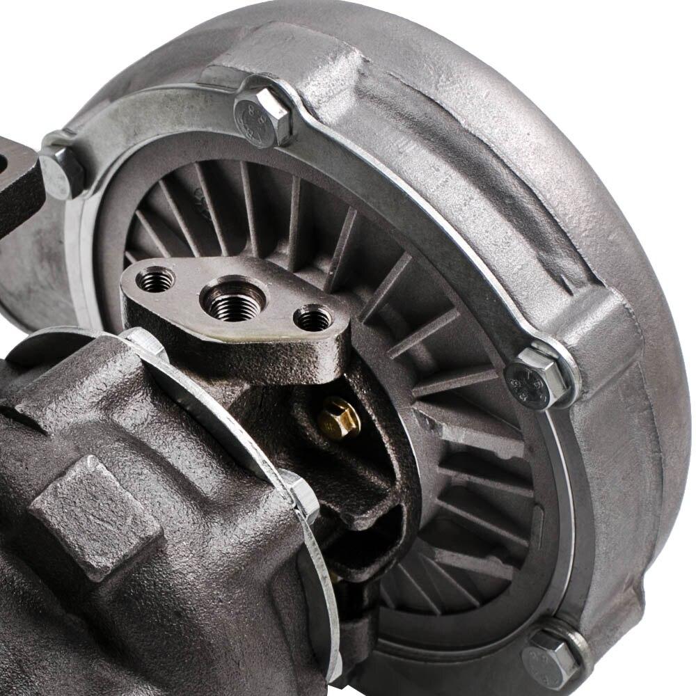 T04E T3 T4. 63 A/R турбо зарядное устройство ж/коллектор для BMW E36 E46 323I 1997 1999 + турбо brased подачи масла Inlien Line Kit - 3