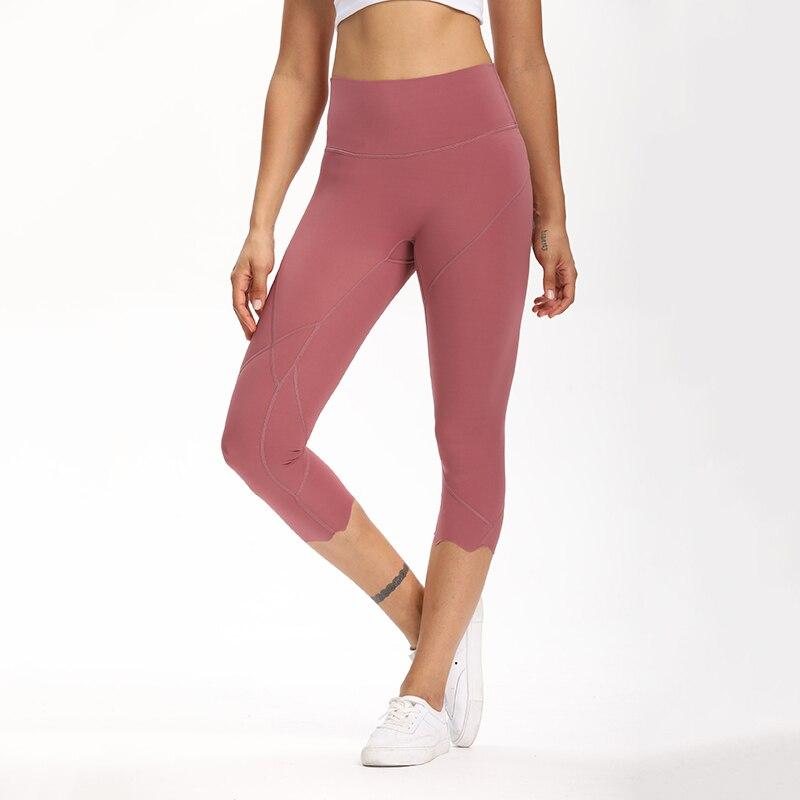 Cardism High Waist Sport Pants Women Yoga Sports Gym Sexy Leggings For Fitness Joggers Push Up Women Calf Length Pants Wave 8