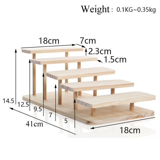 New Arrival Assembleable Bamboo Sunglasses Stand Glasses Display Jewelry Holder Bracelet Watches Show Product 1-5 Layers Options