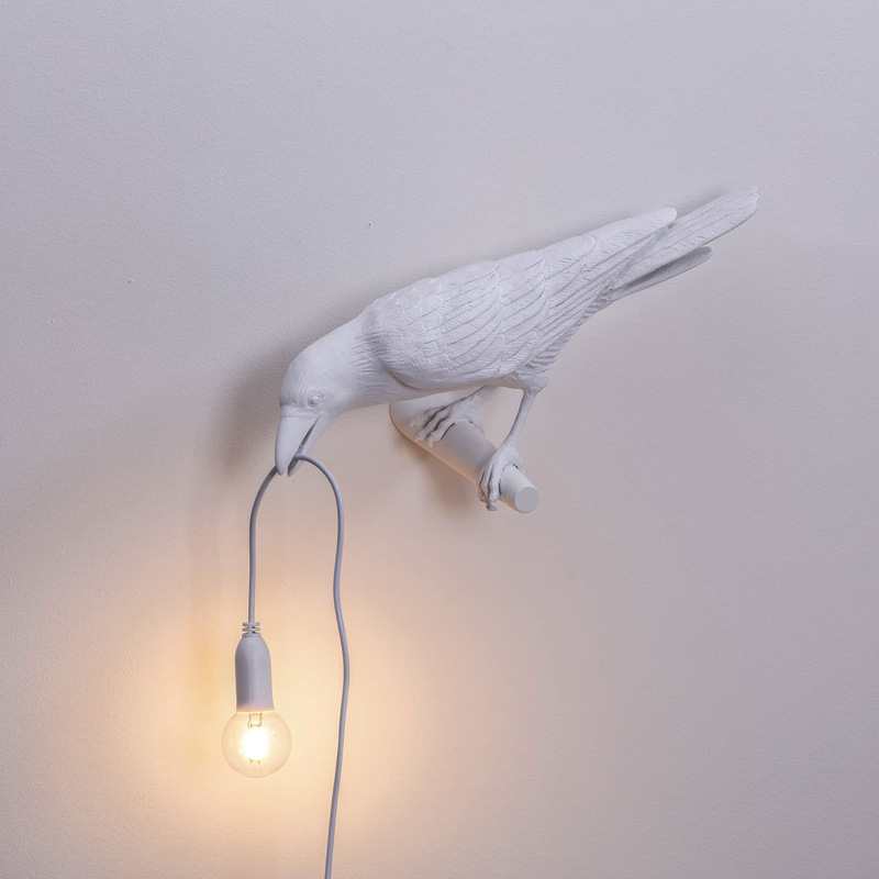 led corvo passaro lampada luz noite 04