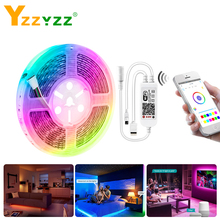 SMD 2835 RGBW RGB Wifi LED Strip 12V 24V Ribbon APP IR Controller Works With Amazon Alexa Google Home 5M 234led/m Diode Tape